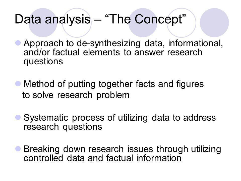 Data analysis – The Concept