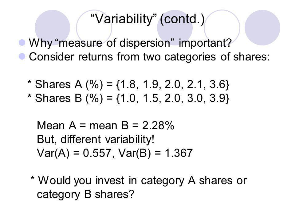Variability (contd.)