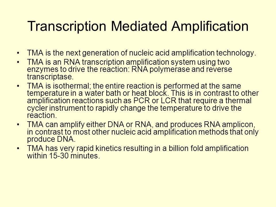 Transcription Mediated Amplification