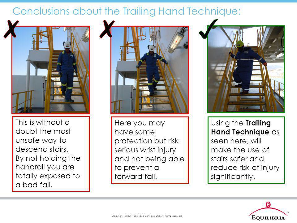 ✗ ✗ ✓ Conclusions about the Trailing Hand Technique: