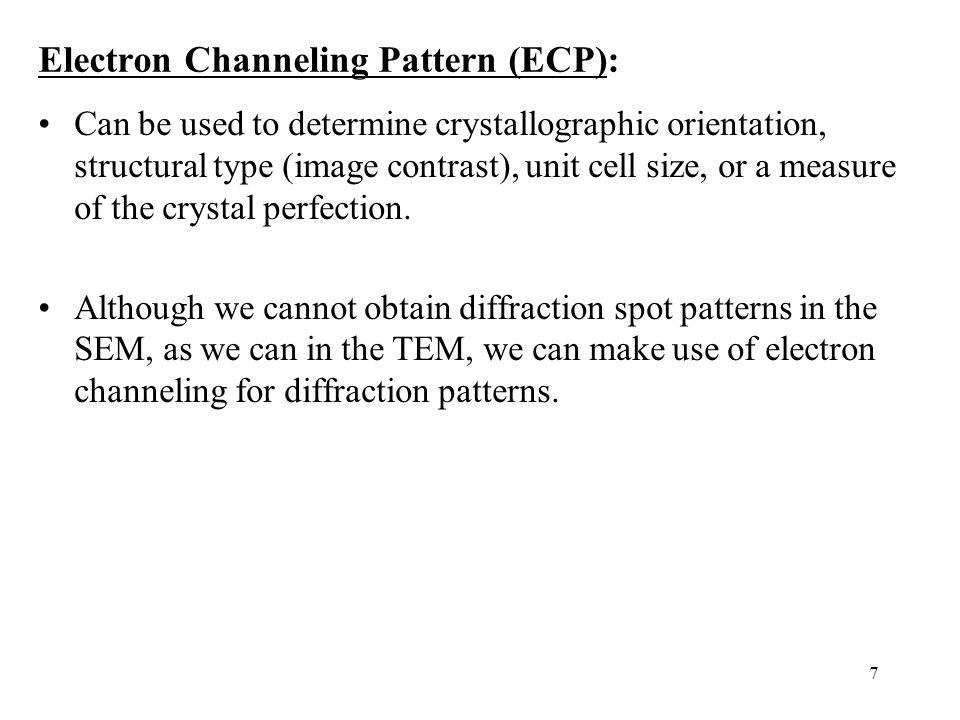 Electron Channeling Pattern (ECP):