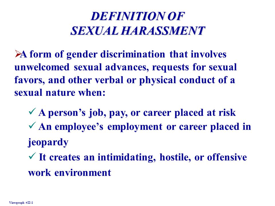 Meaning sexual harassment