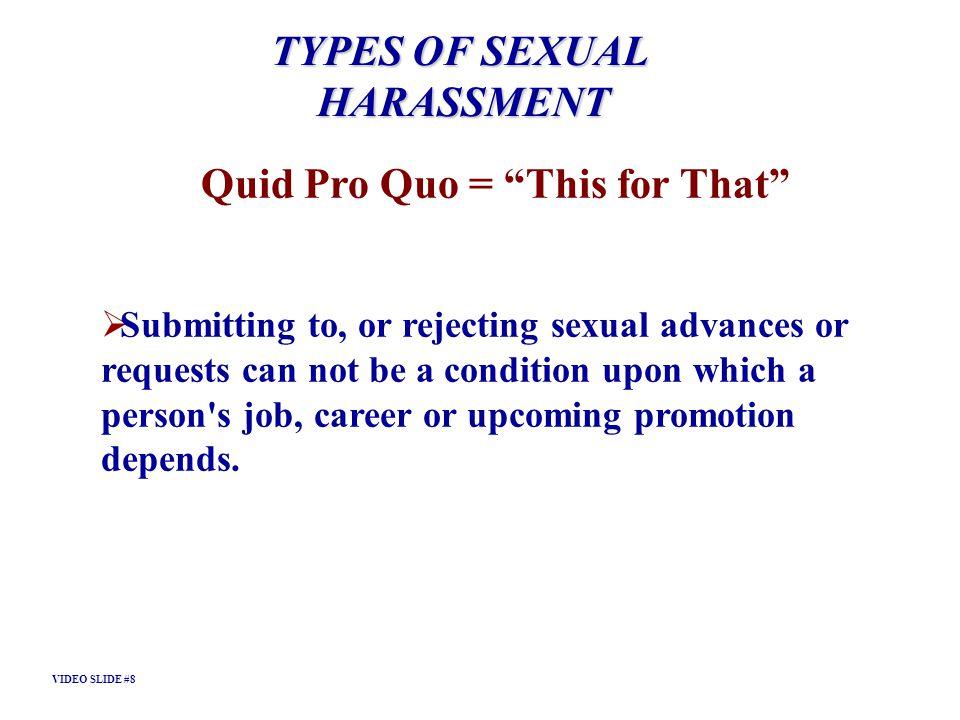 Quid Pro Quo = This for That