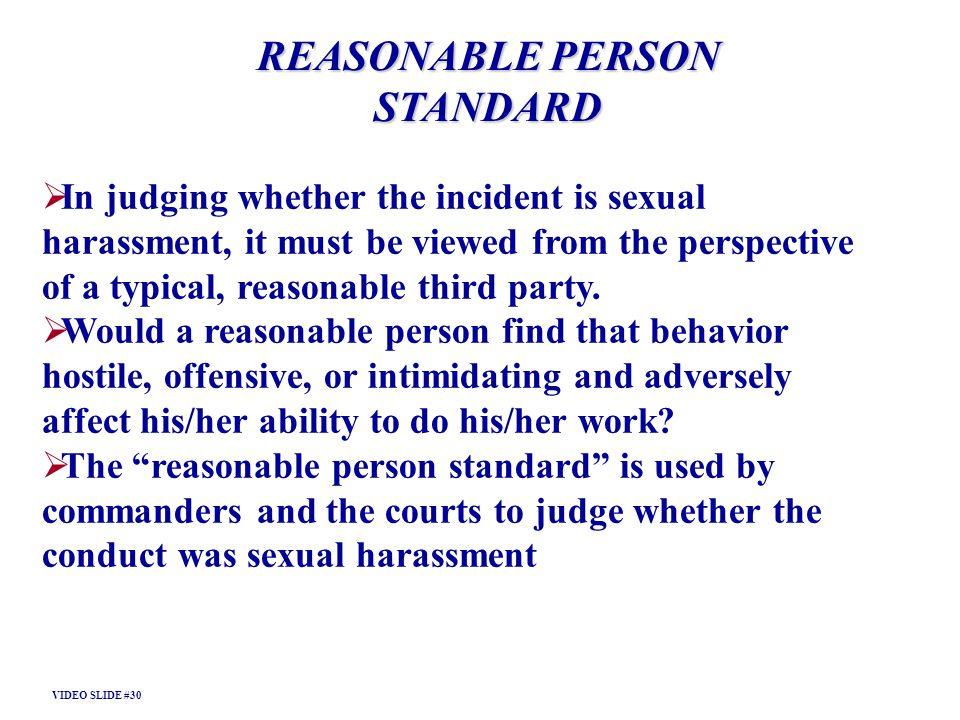 REASONABLE PERSON STANDARD