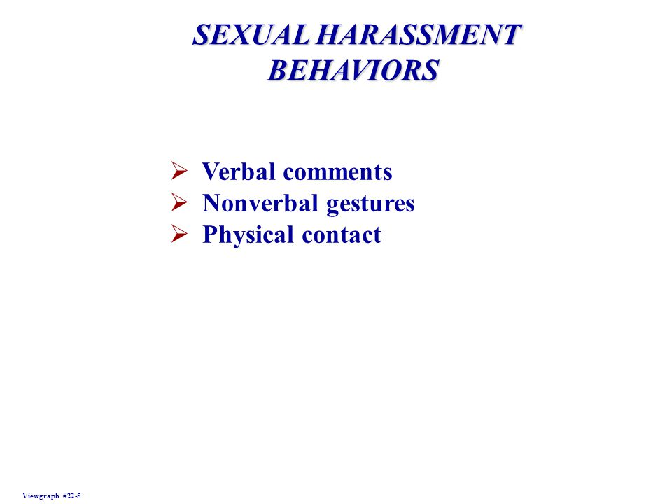 Verbal Sexual Harassment Definition