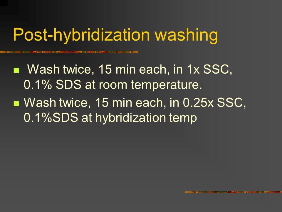 Post-hybridization washing
