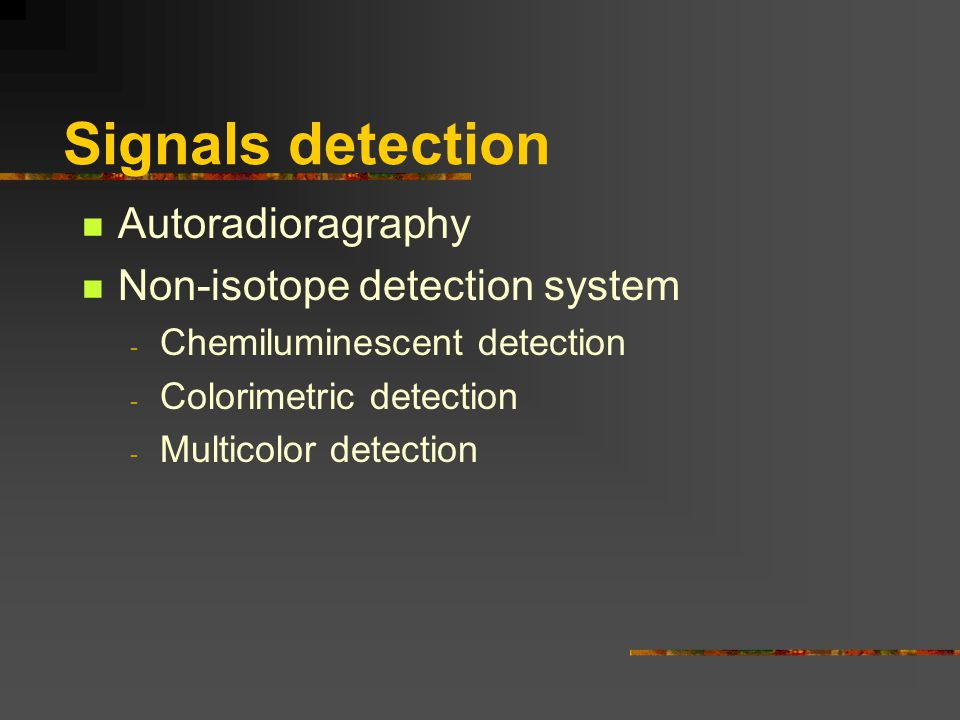 Signals detection Autoradioragraphy Non-isotope detection system