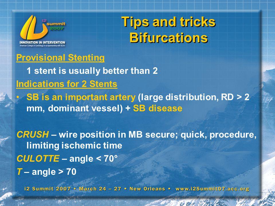 Tips and tricks Bifurcations