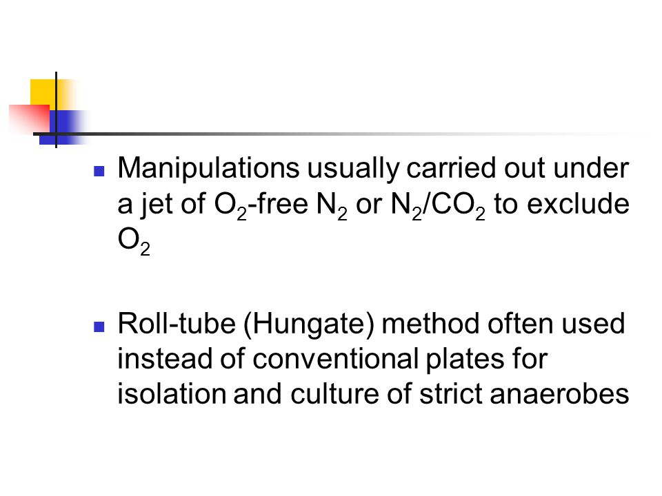 Manipulations usually carried out under a jet of O2-free N2 or N2/CO2 to exclude O2