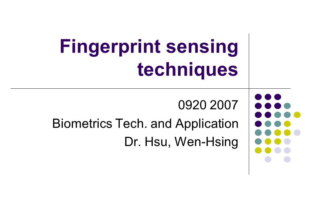 Fingerprint sensing techniques