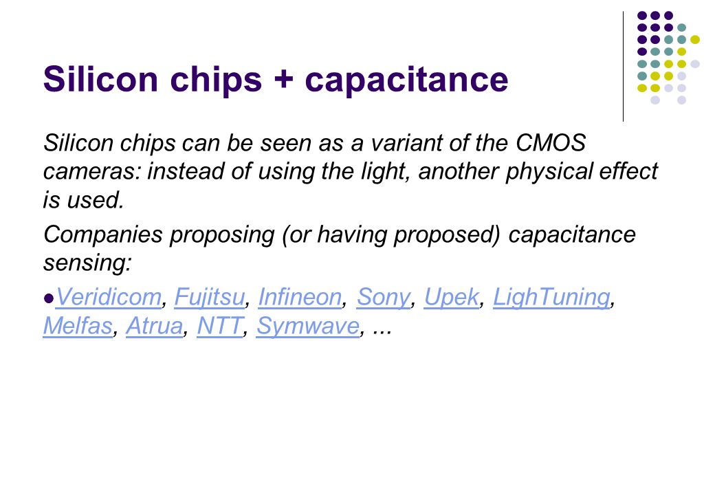 Silicon chips + capacitance