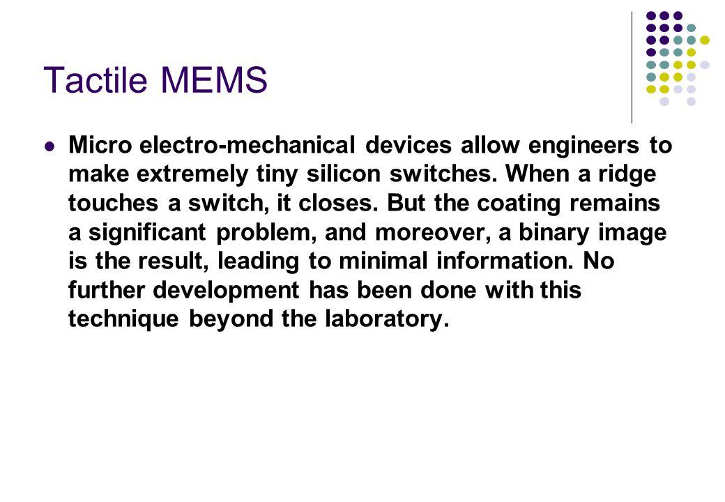 Tactile MEMS