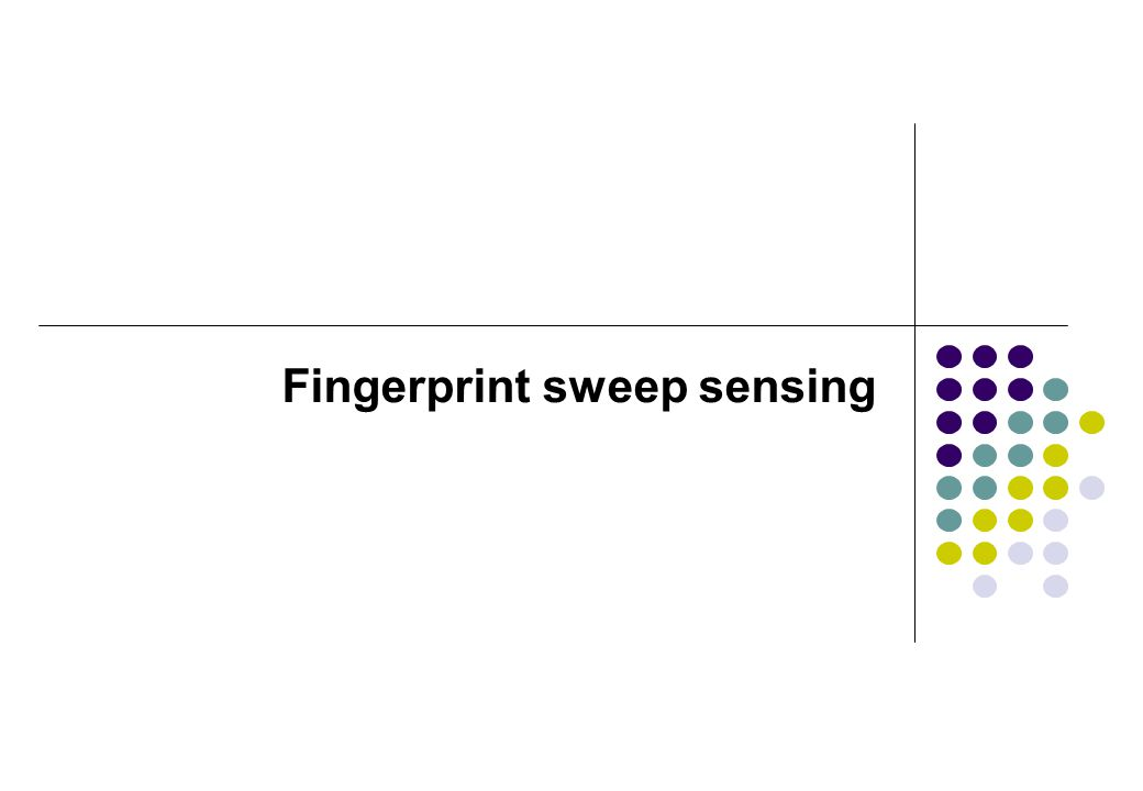 Fingerprint sweep sensing