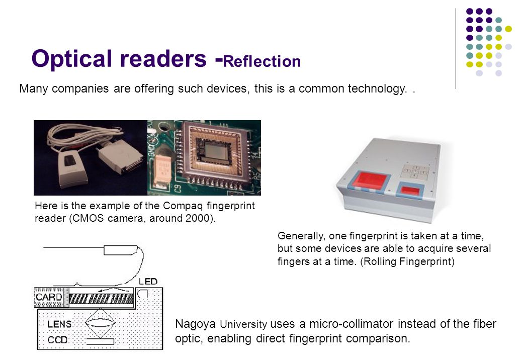 Optical readers -Reflection