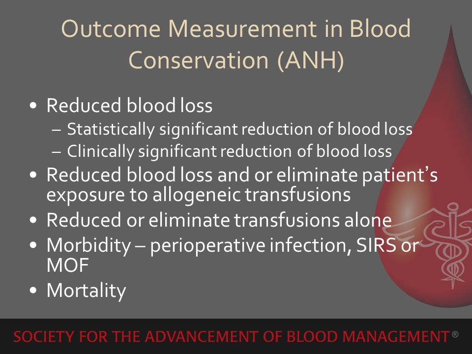 Outcome Measurement in Blood Conservation (ANH)