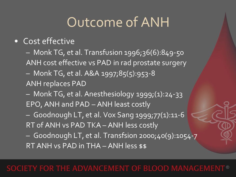Outcome of ANH Cost effective