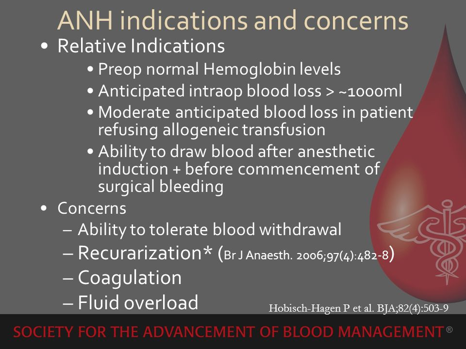 ANH indications and concerns