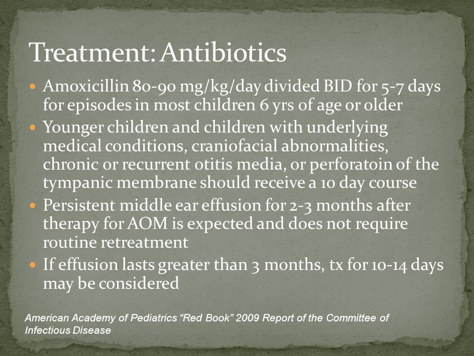 Treatment: Antibiotics
