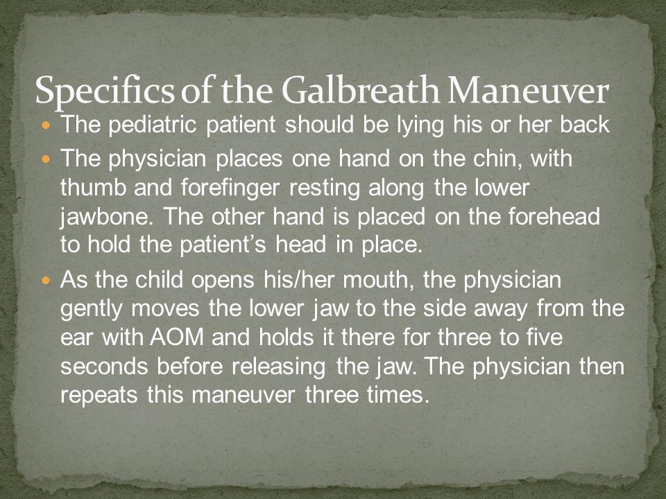 Specifics of the Galbreath Maneuver