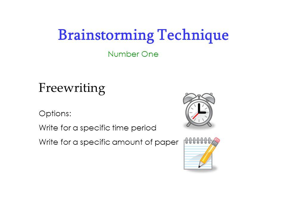 Brainstorming Technique
