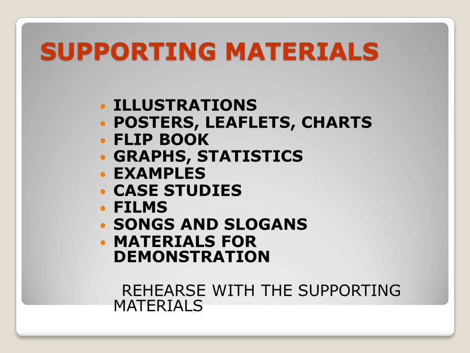 SUPPORTING MATERIALS ILLUSTRATIONS POSTERS, LEAFLETS, CHARTS FLIP BOOK