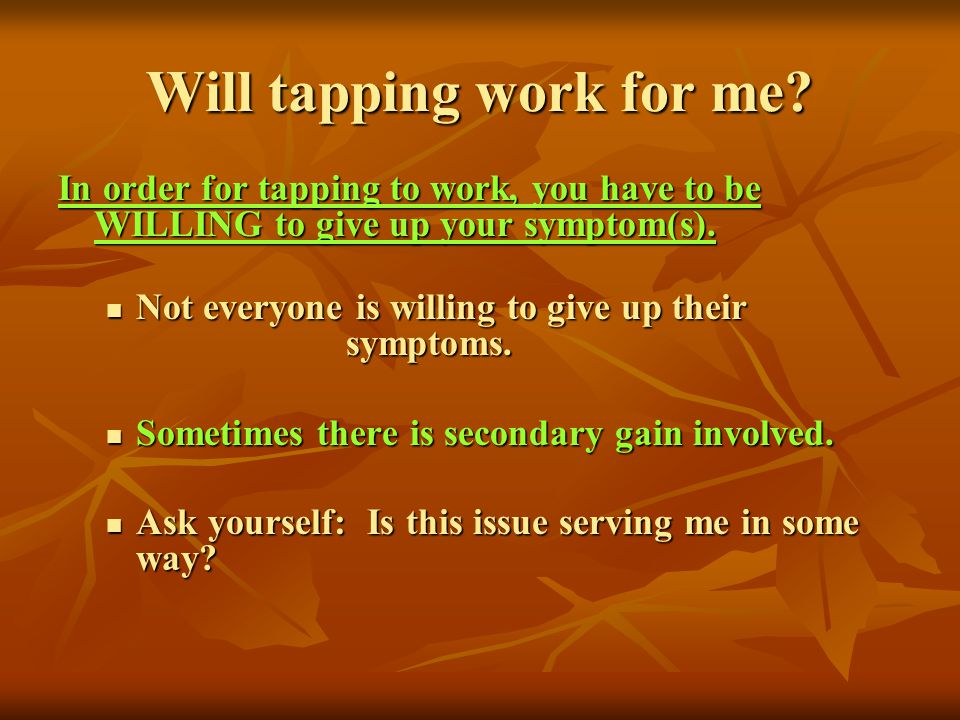 Will tapping work for me
