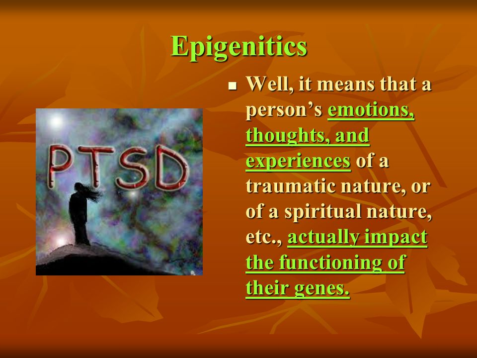 Epigenitics