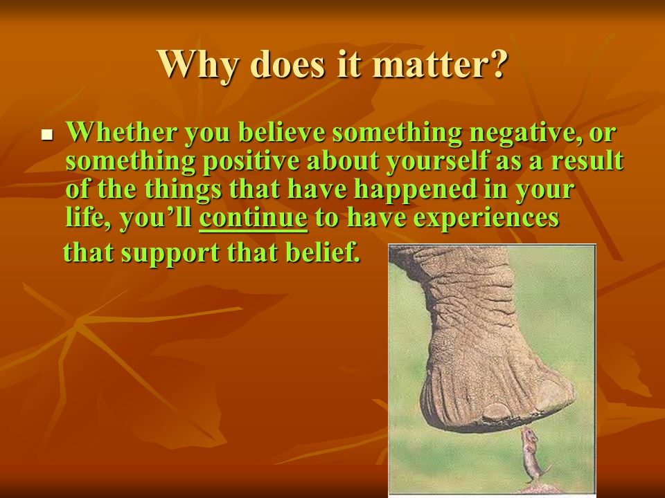 Why does it matter