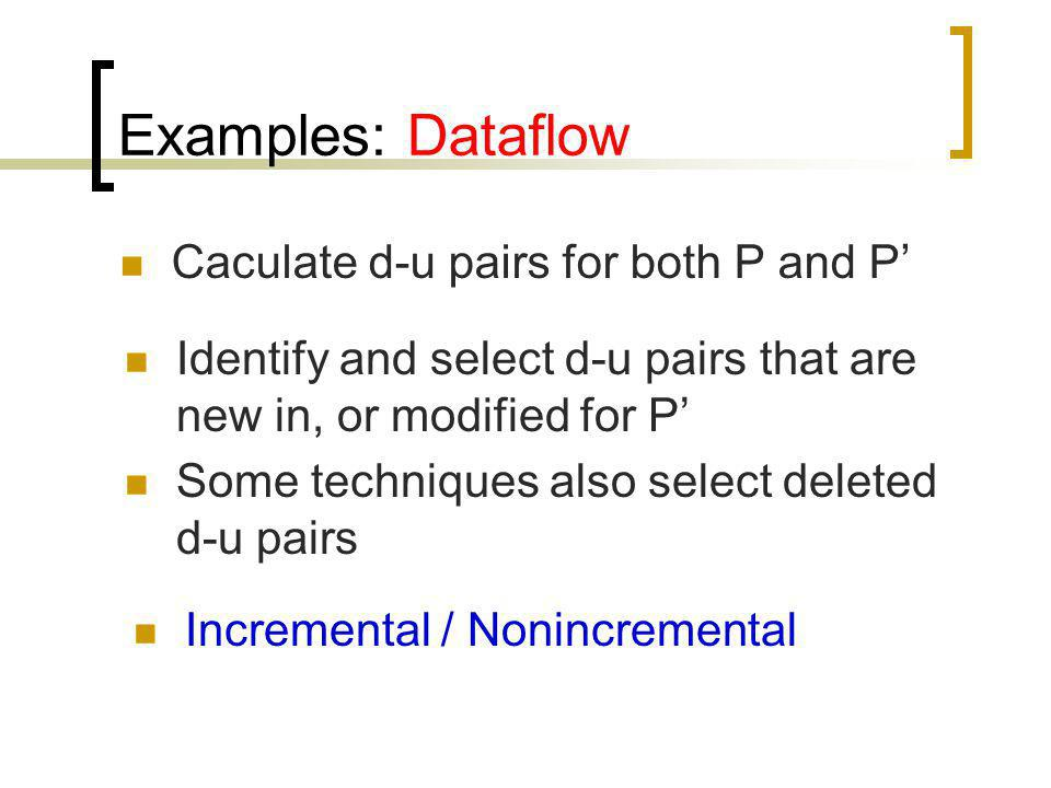 Examples: Dataflow Caculate d-u pairs for both P and P'