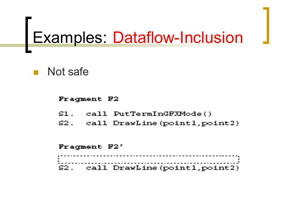 Examples: Dataflow-Inclusion