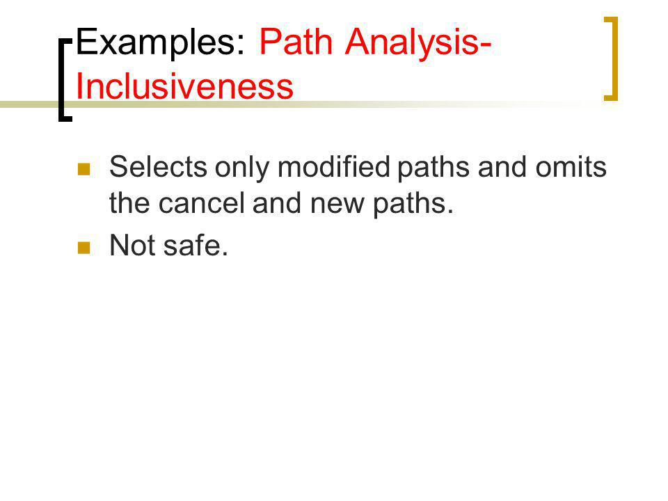 Examples: Path Analysis-Inclusiveness