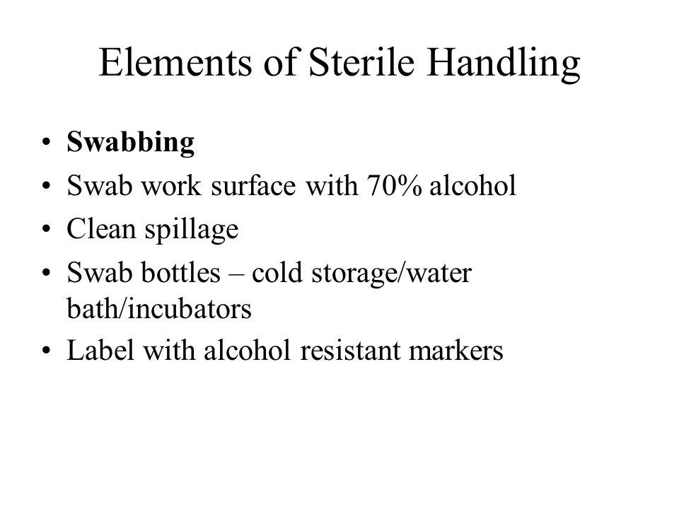 Elements of Sterile Handling
