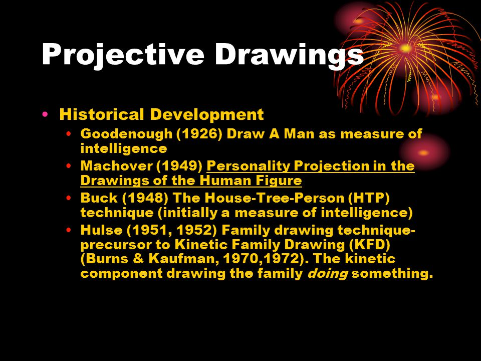 Projective Drawings Historical Development
