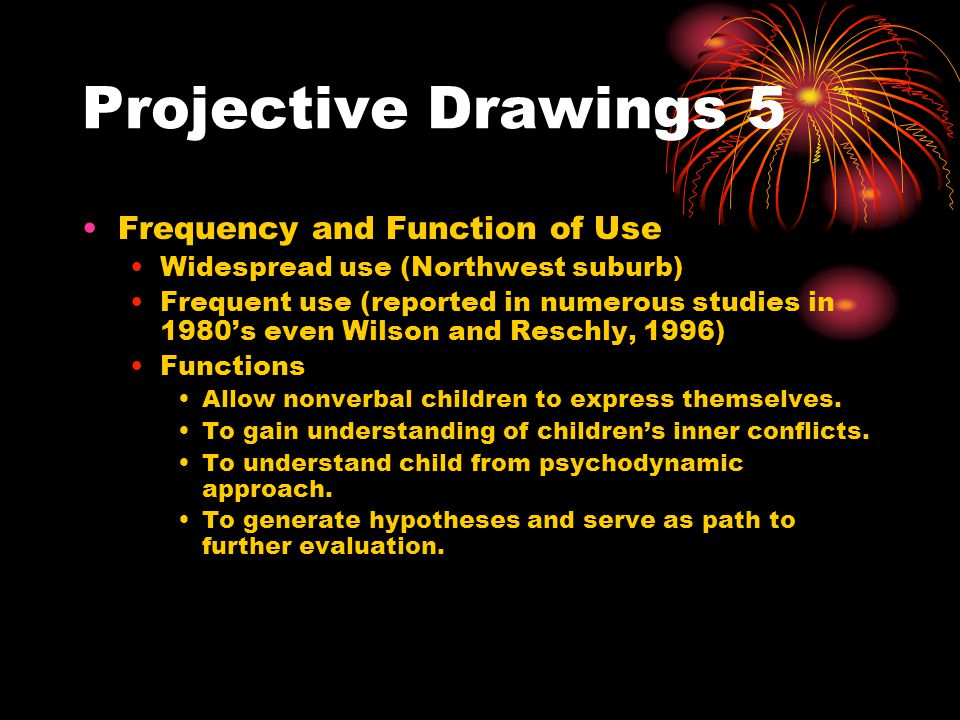 Projective Drawings 5 Frequency and Function of Use