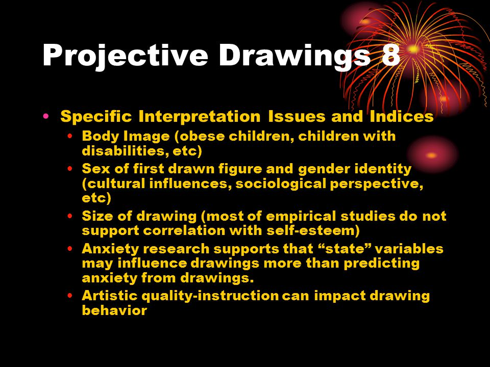 Projective Drawings 8 Specific Interpretation Issues and Indices
