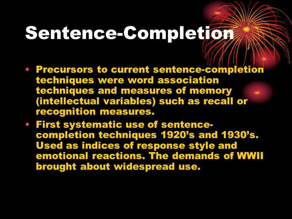 Sentence-Completion