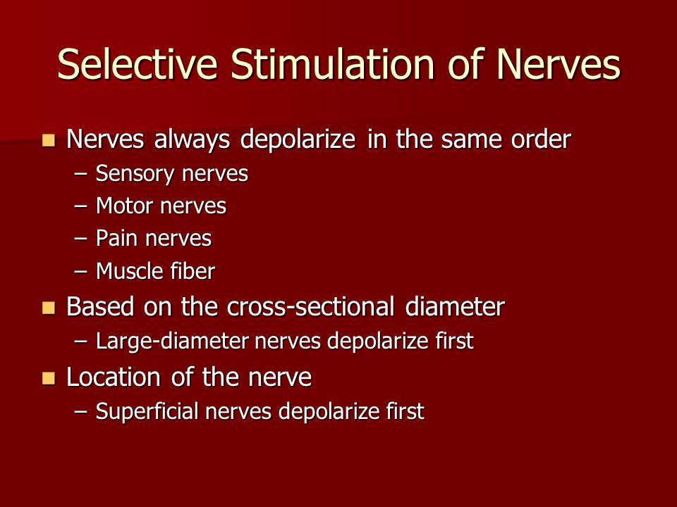 Selective Stimulation of Nerves