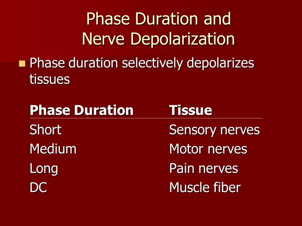 Phase Duration and Nerve Depolarization