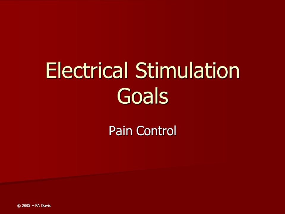 Electrical Stimulation Goals