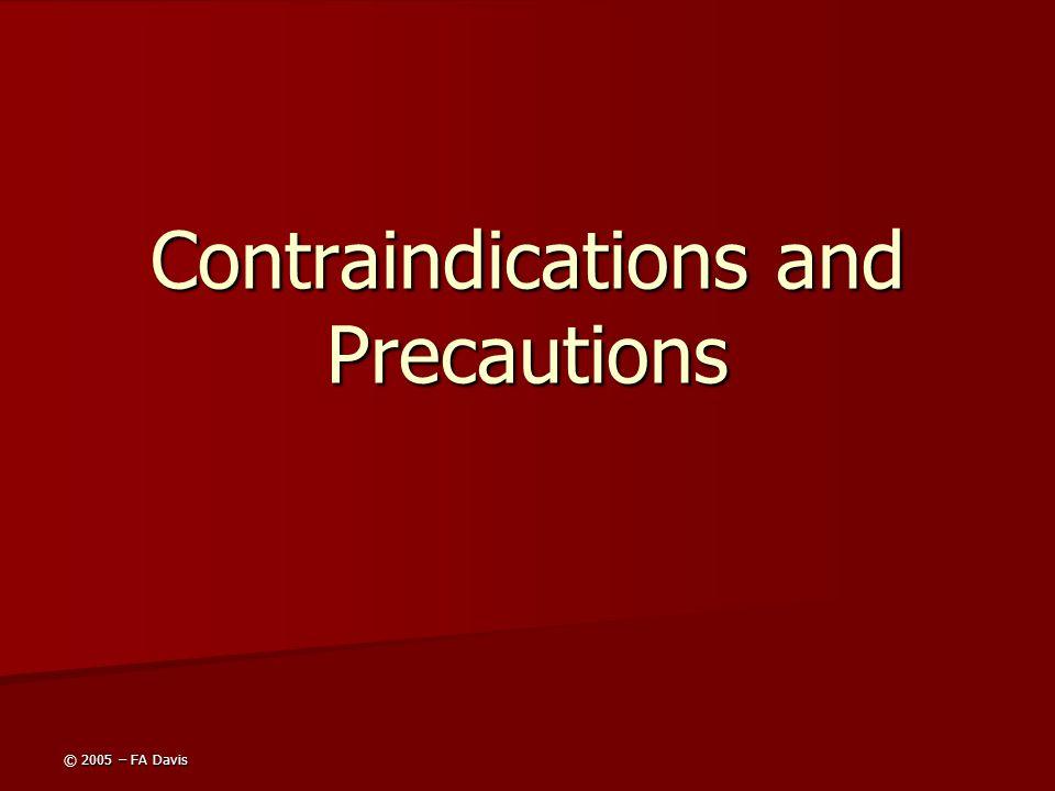 Contraindications and Precautions