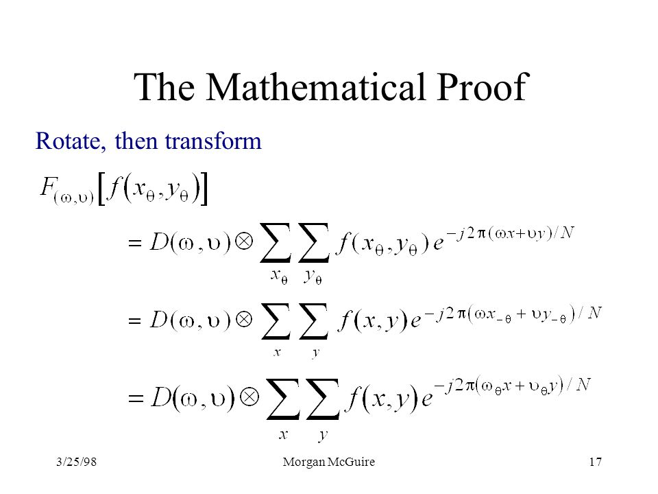 The Mathematical Proof