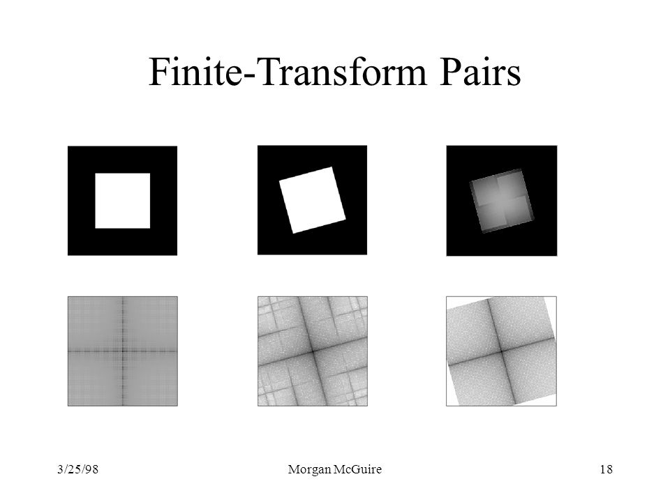 Finite-Transform Pairs