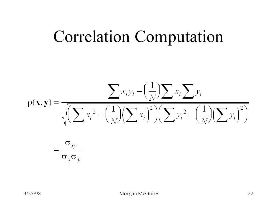 Correlation Computation