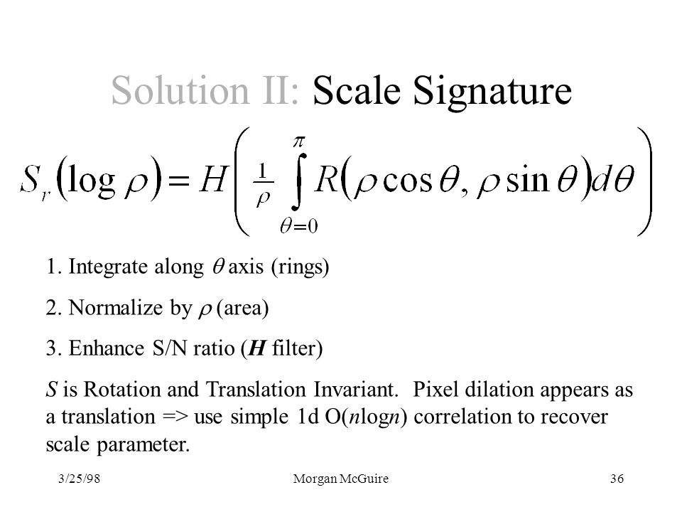 Solution II: Scale Signature
