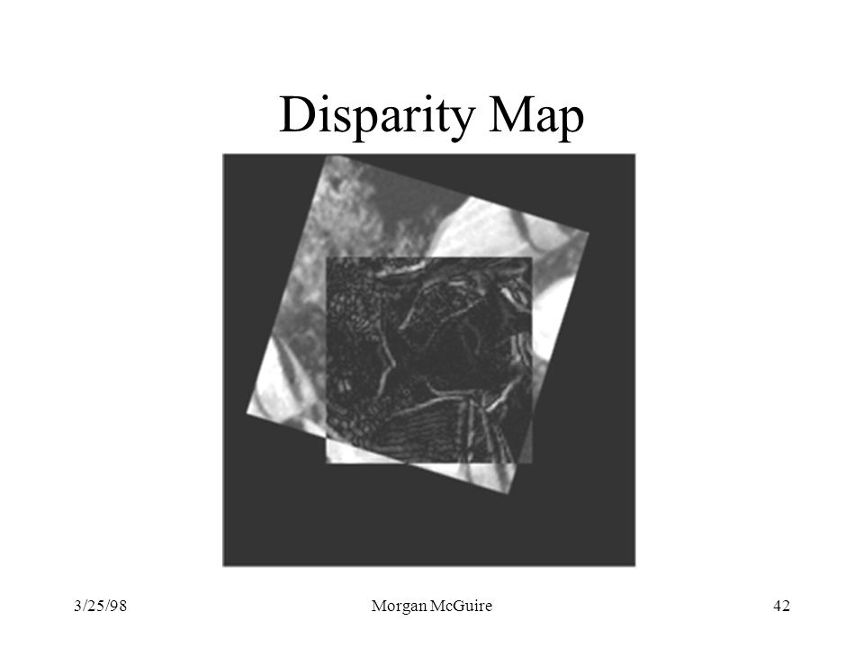 Disparity Map 3/25/98 Morgan McGuire