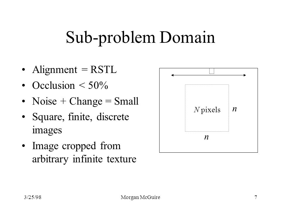 Sub-problem Domain Alignment = RSTL Occlusion < 50%