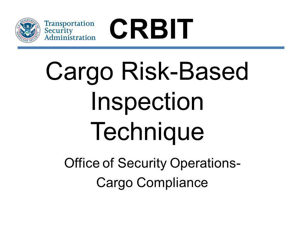 Cargo Risk-Based Inspection Technique