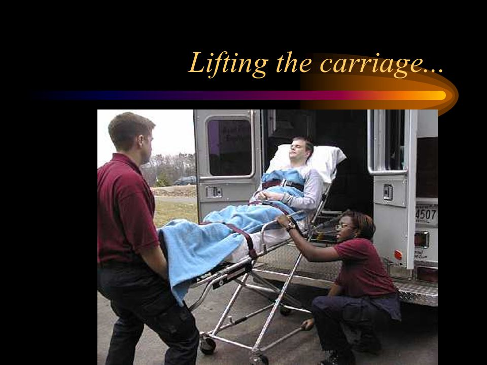 Lifting the carriage...