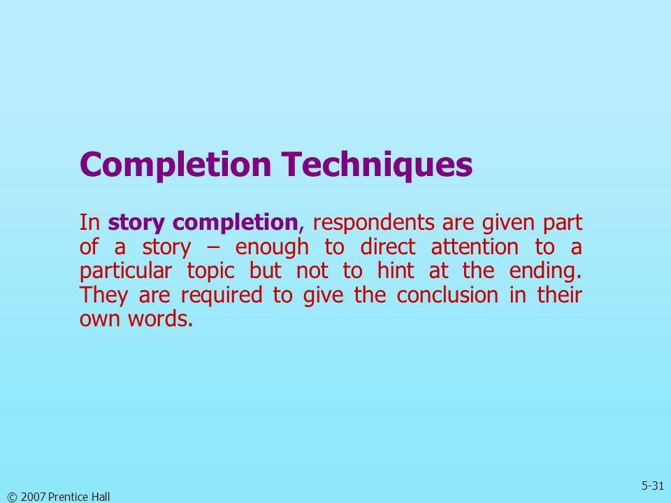 Completion Techniques