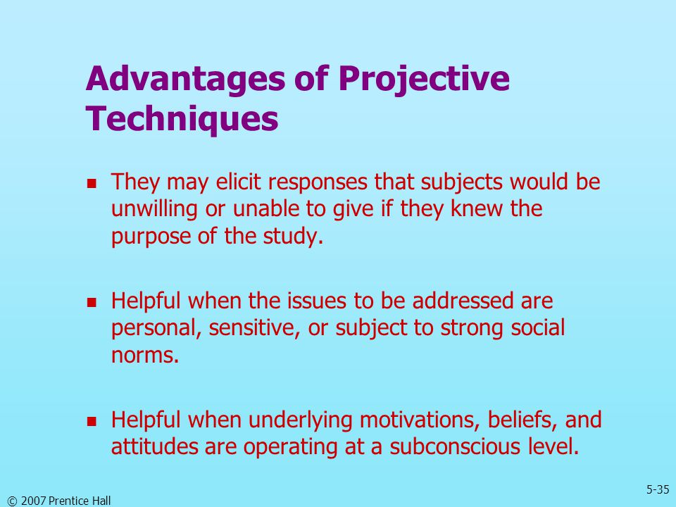 Advantages of Projective Techniques